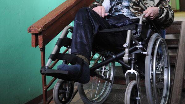 Инвалид, архивное фото - Sputnik Тоҷикистон