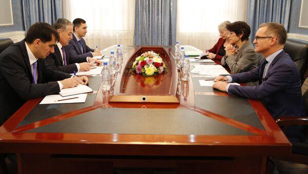 Встреча с Директором Департамента Континентальной Европы Министерства иностранных и европейских дел Франции - Sputnik Тоҷикистон