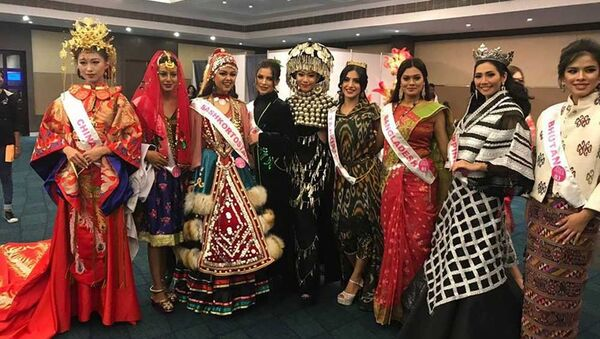 Таджичка заняла первое место в Международном конкурсе красоты «Мисс Азия 2017» в Индии - Sputnik Тоҷикистон