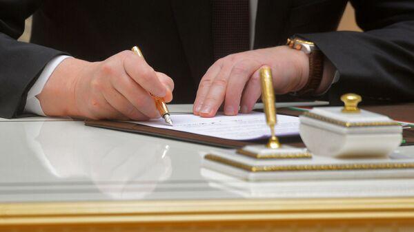 Подписание договора, архивное фото - Sputnik Таджикистан