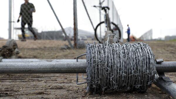Установка ограждения на границе, архивное фото - Sputnik Таджикистан