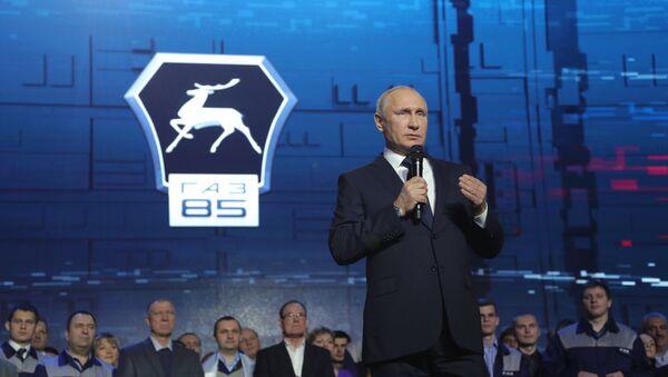 Рабочая поездка президента РФ В. Путина в Нижний Новгород - Sputnik Таджикистан