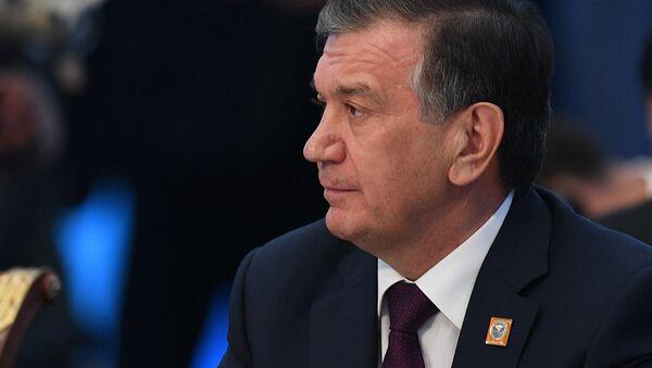 Президент Узбекистана Шавкат Мирзиеев на заседании совета глав государств - членов Шанхайской организации сотрудничества (ШОС) в расширенном составе - Sputnik Таджикистан