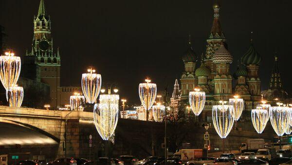 иллюминация в Москве - Sputnik Таджикистан