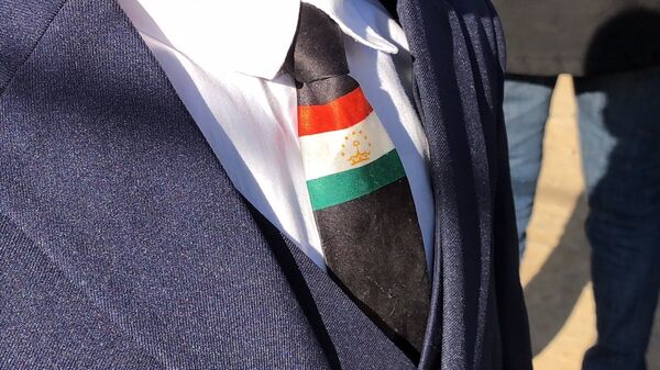Галстук с флагом Таджикистана - Sputnik Тоҷикистон