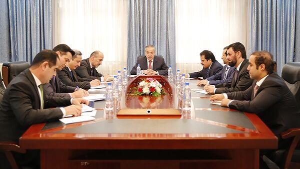 Встреча Министра иностранных дел Республики Таджикистан С. Аслова с делегацией Катара - Sputnik Тоҷикистон