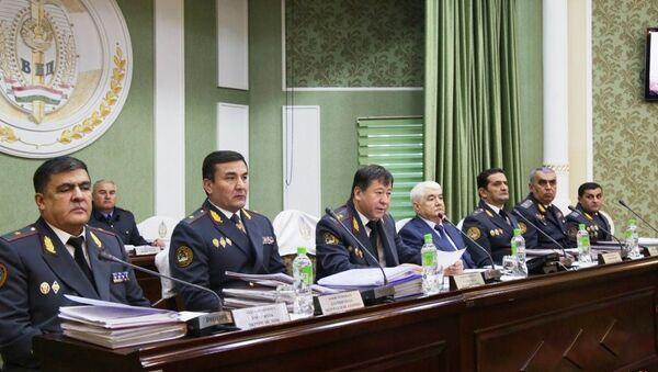 Собрание в МВД Таджикистана, архивное фото - Sputnik Таджикистан