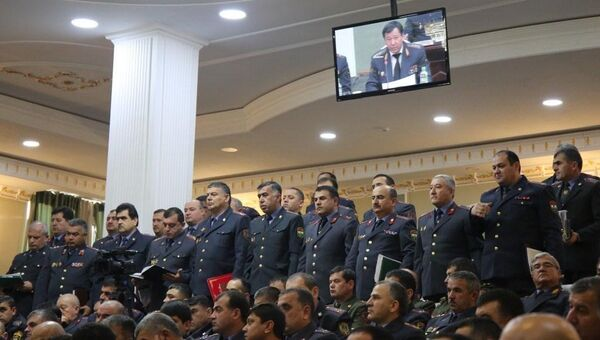 Собрание в МВД Таджикистана по итогам годовой деятельности - Sputnik Тоҷикистон