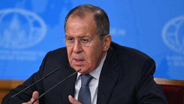 Пресс-конференция министра иностранных дел РФ С. Лаврова - Sputnik Таджикистан