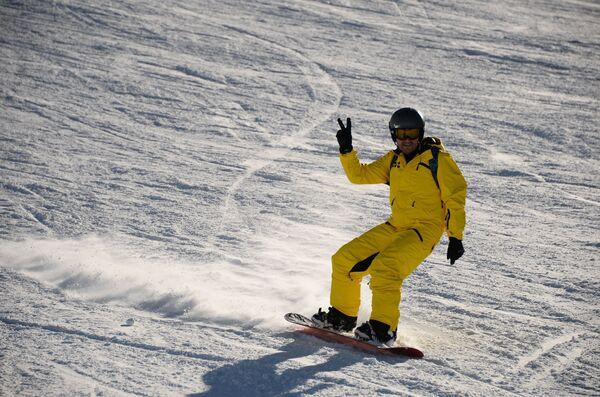 Сноубордист, архивное фото - Sputnik Таджикистан