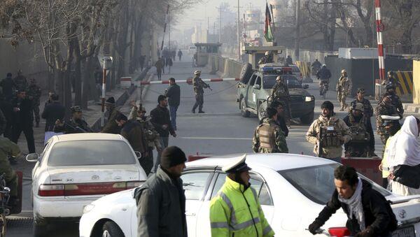 Афганские сотрудники службы безопасности в Кабуле, архивное фото - Sputnik Таджикистан