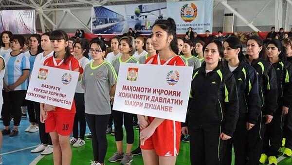 Соревнования по волейболу между министерствами в Душанбе - Sputnik Тоҷикистон