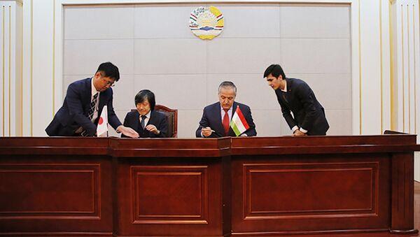 Церемония подписания Обменных нот правительства Японии и правительства Таджикистана - Sputnik Тоҷикистон