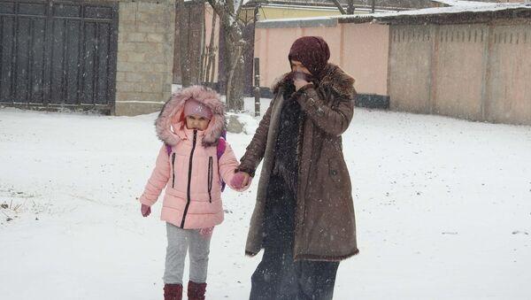 Снег в Душанбе, архивное фото - Sputnik Тоҷикистон