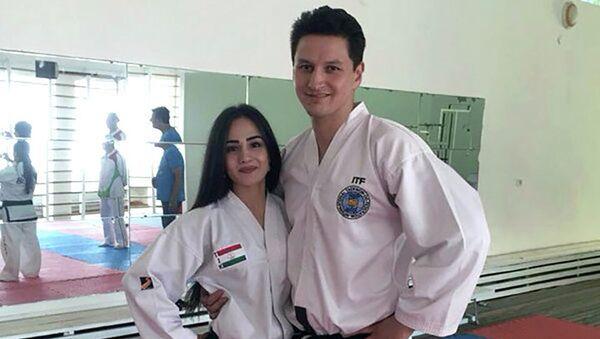 Далер и Сабина Тюряевы известная спортивная пара Таджикистана, архивное фото - Sputnik Таджикистан