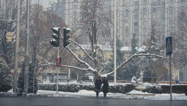 Город Душанбе зимой, архивное фото - Sputnik Тоҷикистон