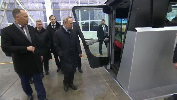 Путин собрал урожай на симуляторе комбайна в Ростове-на-Дону - Sputnik Таджикистан