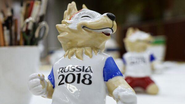 Скульптура волка Забиваки – официального талисмана чемпионата мира по футболу 2018, архивное фото - Sputnik Таджикистан