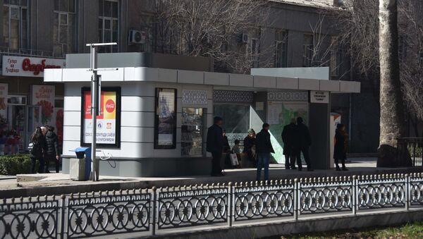 Автобусная остановка в Душанбе, архивное фото - Sputnik Таджикистан
