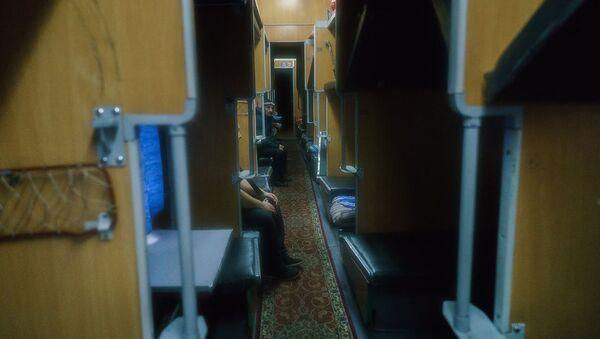 В вагоне поезда Москва-Душанбе, архивное фото - Sputnik Таджикистан