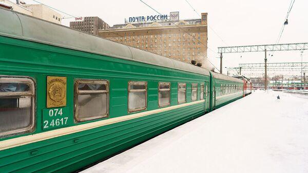 Отправление поезда из Москвы в Душанбе, архивное фото - Sputnik Таджикистан