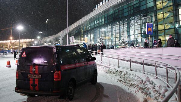 Автомобиль Следственного комитета в аэропорту Домодедово - Sputnik Таджикистан