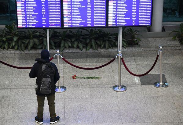 Ситуация в аэропорту Домодедово - Sputnik Таджикистан