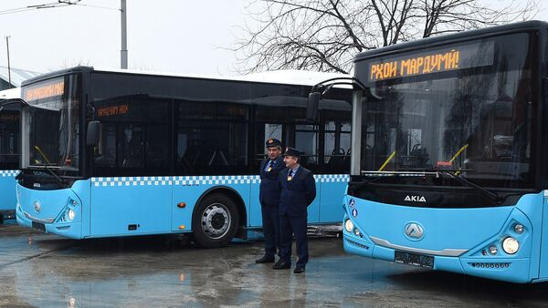 В Душанбе представлены новые автобусы, архивное фото - Sputnik Тоҷикистон