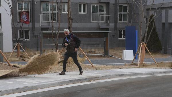 Метель в Пхенчхане: ураганный ветер накрыл столицу Олимпиады - Sputnik Тоҷикистон