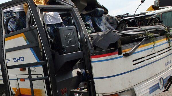 Авария с пассажирским автобусом, архивное фото - Sputnik Тоҷикистон