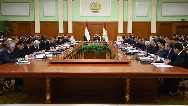Заседание правительства Республики Таджикистан, архивное фото - Sputnik Тоҷикистон