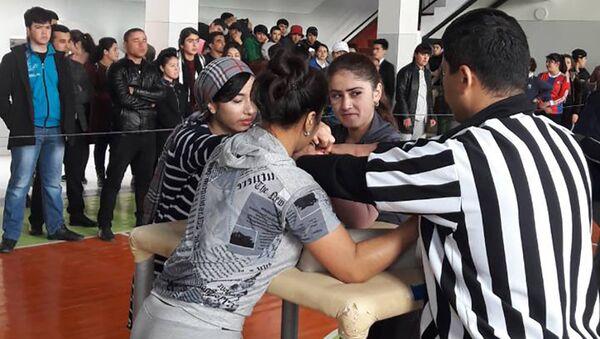 В Худжанде прошел республиканский турнир по армрестлингу, архивное фото - Sputnik Таджикистан