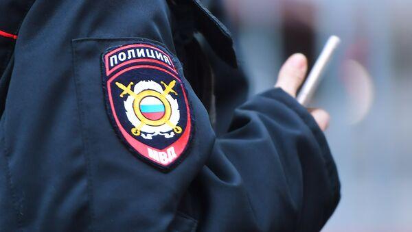 Эмблема на форме сотрудника полиции, архивное фото - Sputnik Таджикистан