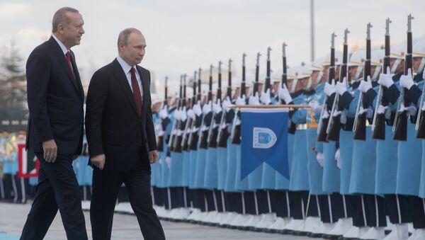 Визит президента РФ В. Путина в Турцию - Sputnik Таджикистан