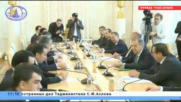 Встреча глав МИД  России и Таджикистана - Sputnik Тоҷикистон