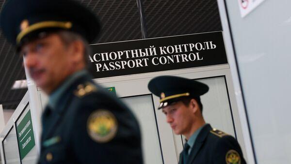 Зона паспортного контроля, архивное фото - Sputnik Таджикистан