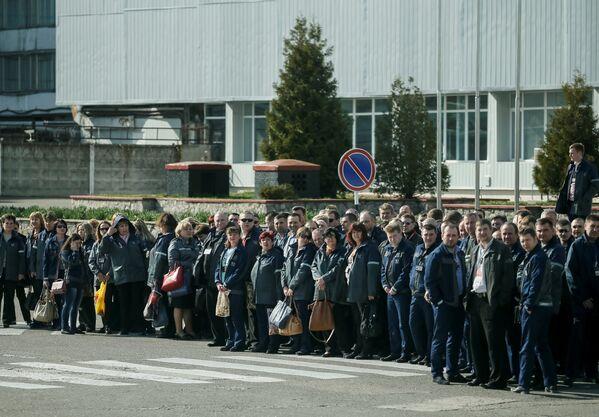 Сотрудники Чернобыльской атомной электростанции - Sputnik Таджикистан