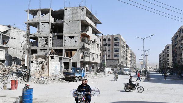 Ситуация в сирийском городе Думе - Sputnik Таджикистан