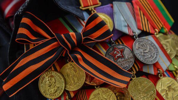 Георгиевская ленточка, архивное фото - Sputnik Тоҷикистон