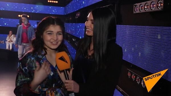 Мехрона Гайбуллоева перед выступлением на международном конкурсе Ты супер! - Sputnik Таджикистан