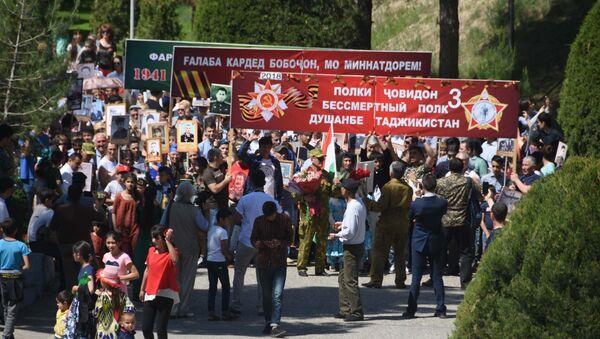 Акция Бессмертный полк в Душанбе - Sputnik Таджикистан