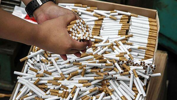 В Таджикистане обнаружили контрабандную партию сигарет, архивное фото - Sputnik Тоҷикистон