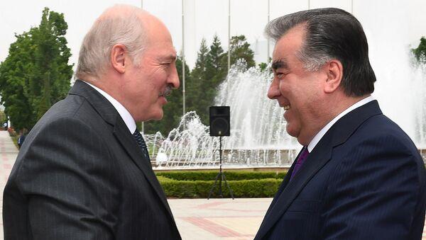 Президент Беларуси Александр Лукашенко и президент Таджикистана Эмомали Рахмон - Sputnik Тоҷикистон