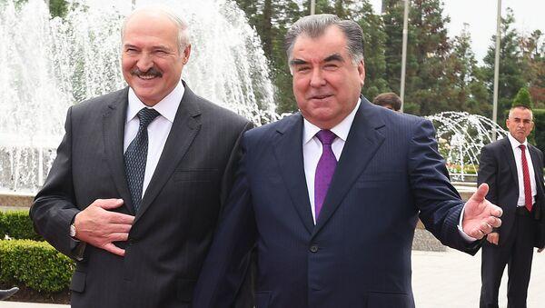 Президент Белоруссии Александр Лукашенко и президент Таджикистана Эмомали Рахмон - Sputnik Таджикистан