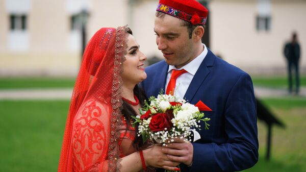 Таджикская свадьба в Москве Хангомы и Алима - Sputnik Таджикистан