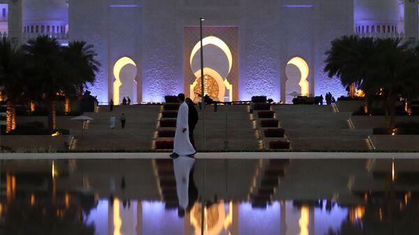 Вид на мечеть шейха Зайда в Абу-Даби, ОАЭ - Sputnik Тоҷикистон