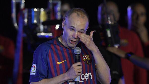 Футболист Барселоны Андрес Иньеста, архивное фото - Sputnik Таджикистан