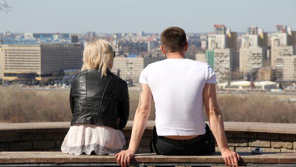 Молодая пара в Нижнем Новгороде - Sputnik Таджикистан