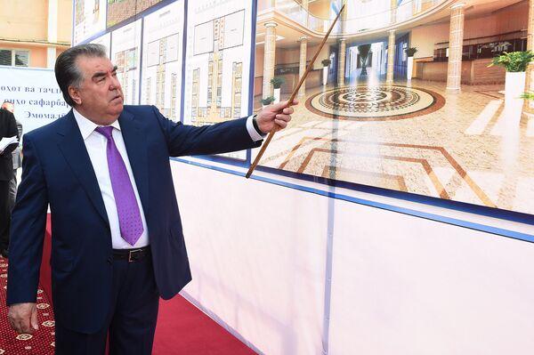 Начало строительных работ на объекте Исламского института Таджикистана - Sputnik Таджикистан
