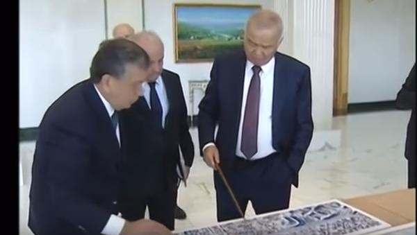 В сети появились уникальные кадры беседы Каримова и Мирзиёева - Sputnik Тоҷикистон